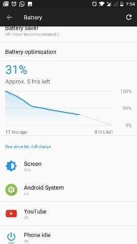 OnePlus 5 911 Battery Drain