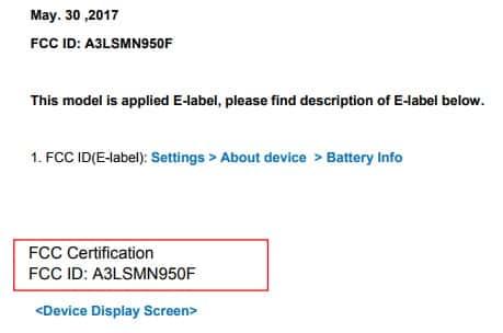 Samsung Galaxy Note 8 FCC 03
