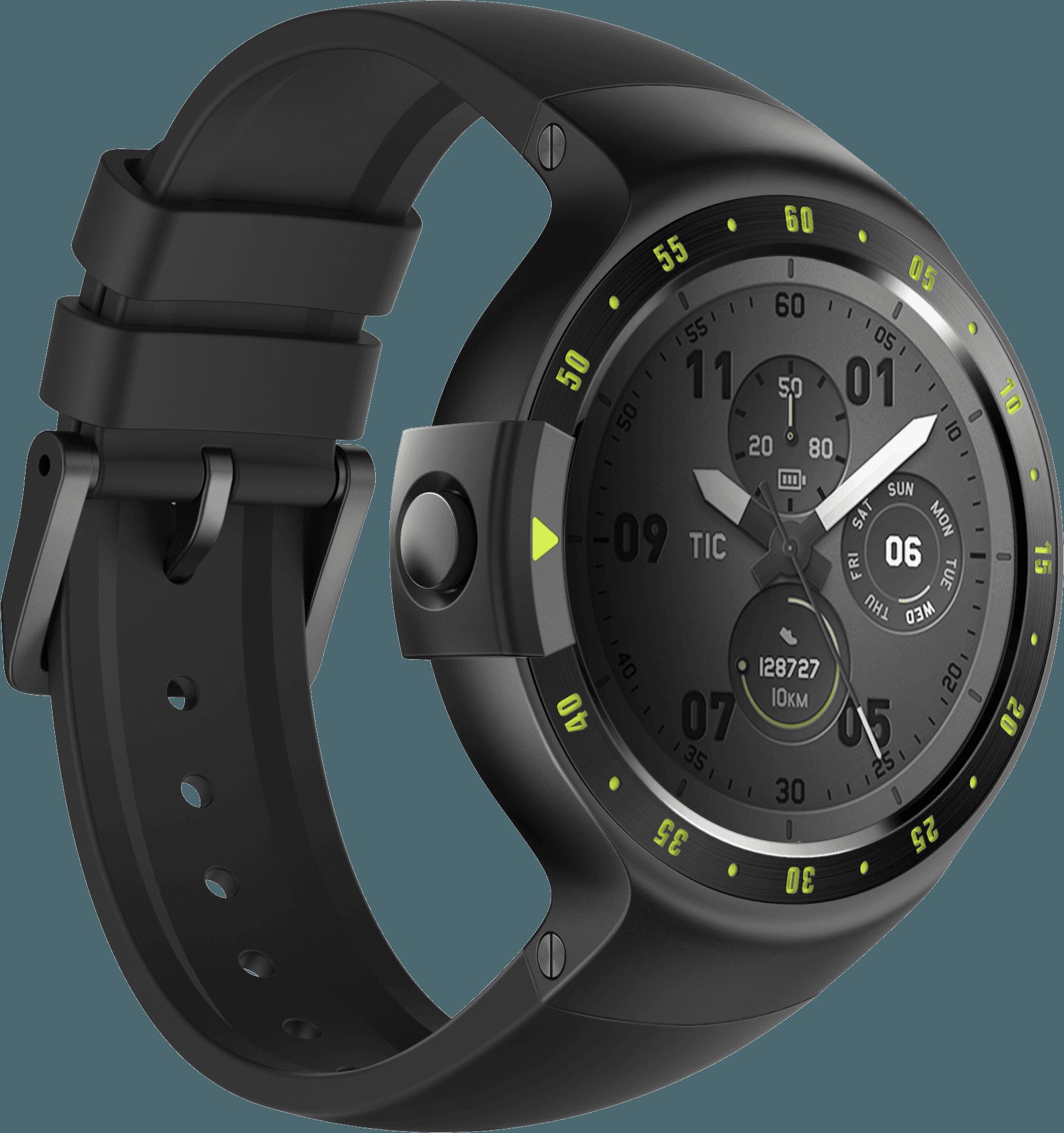 Sport black dial fastened