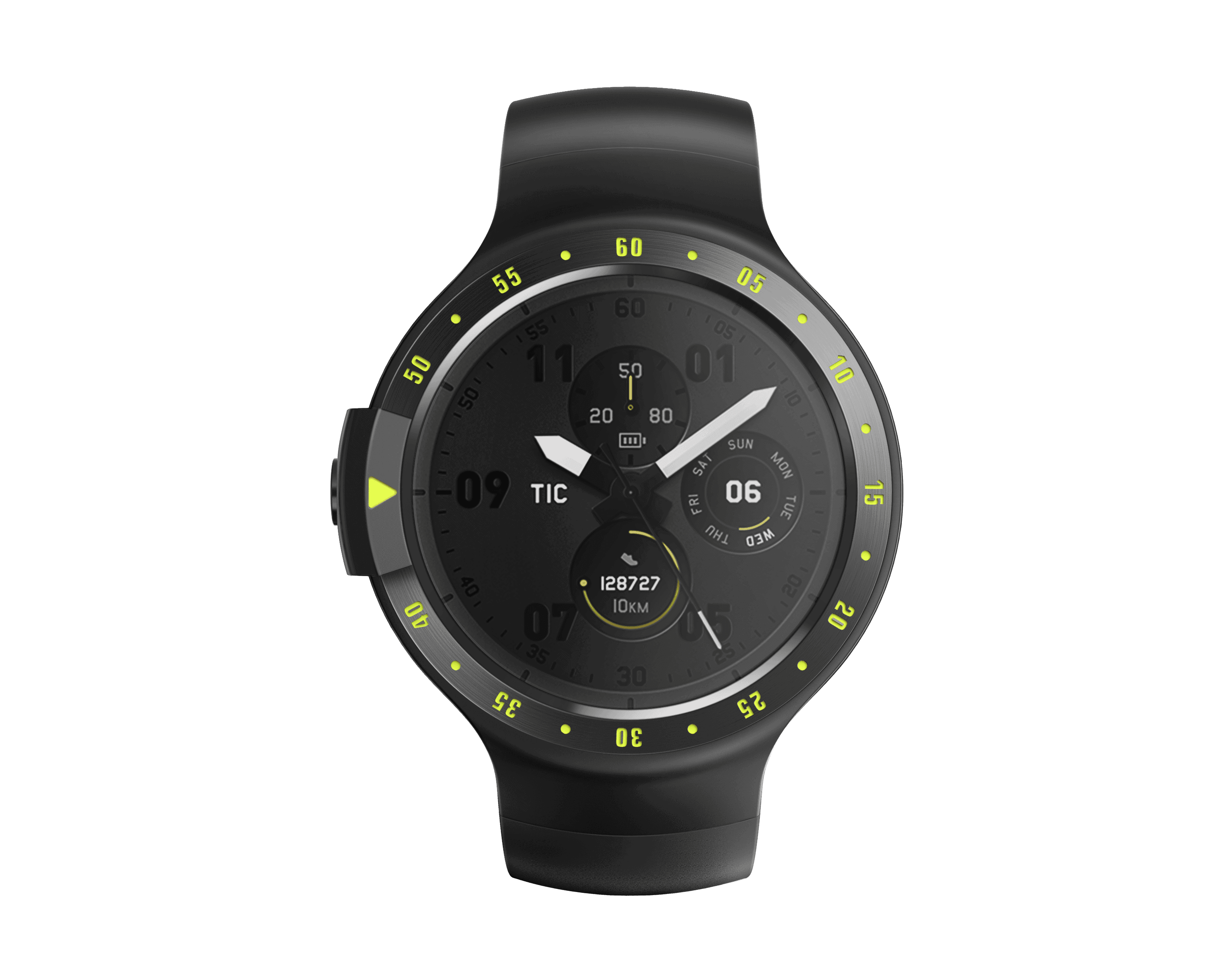 Sport black front dial