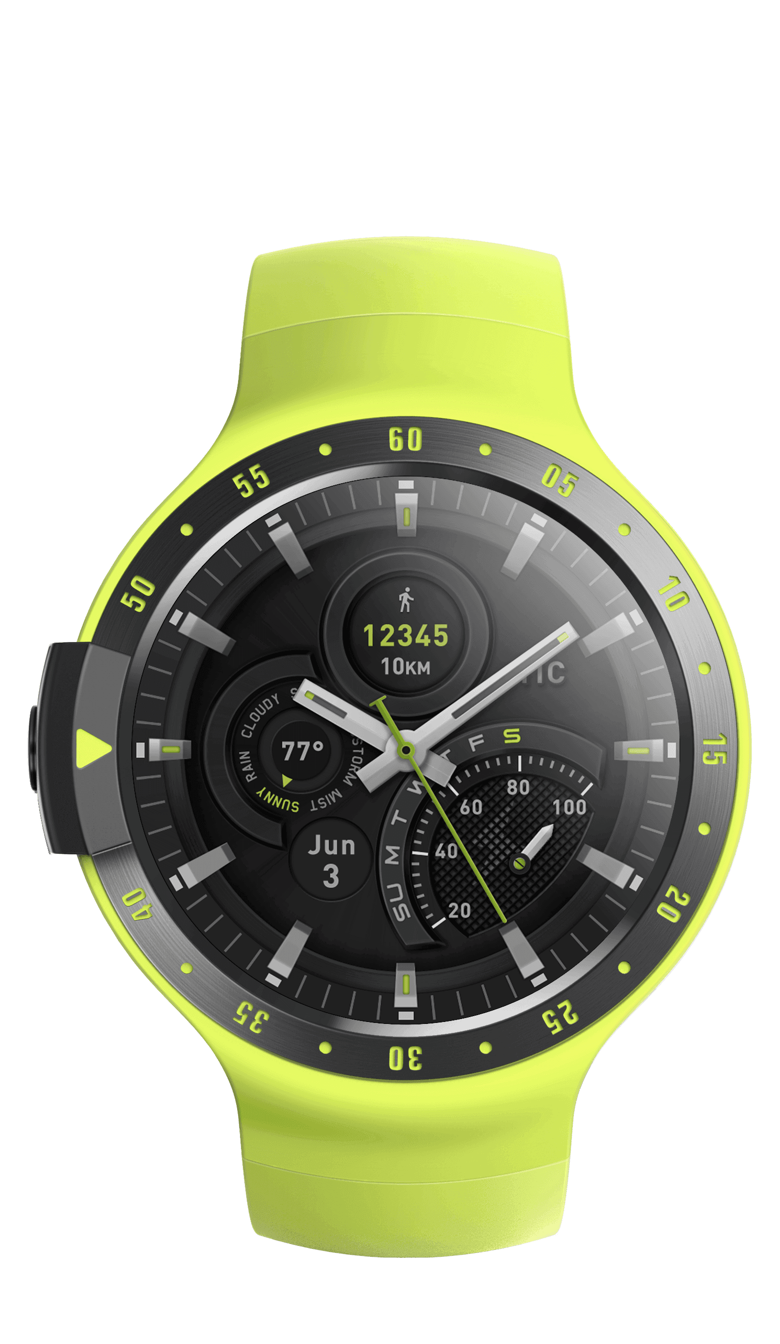 Sport yellow front dial
