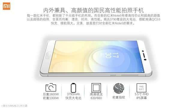 Xiaomi Redmi Note 5 specs leak 2