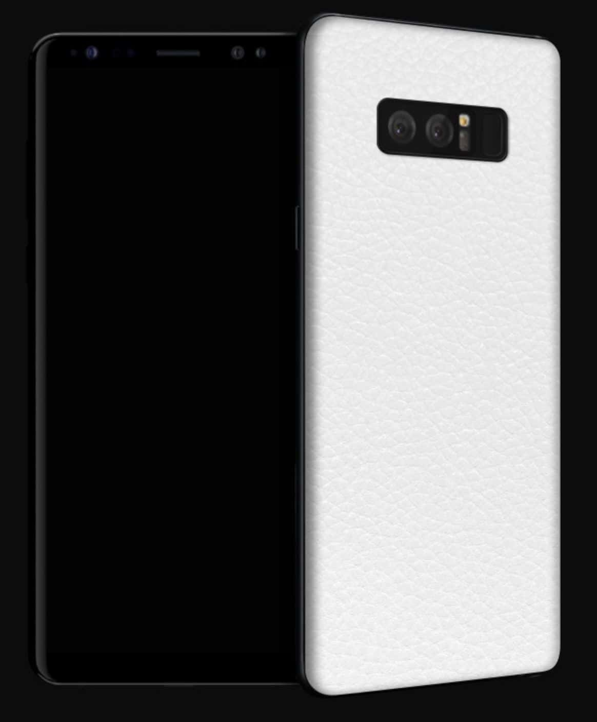 dbrad Galaxy Note 8 Skin White Leather