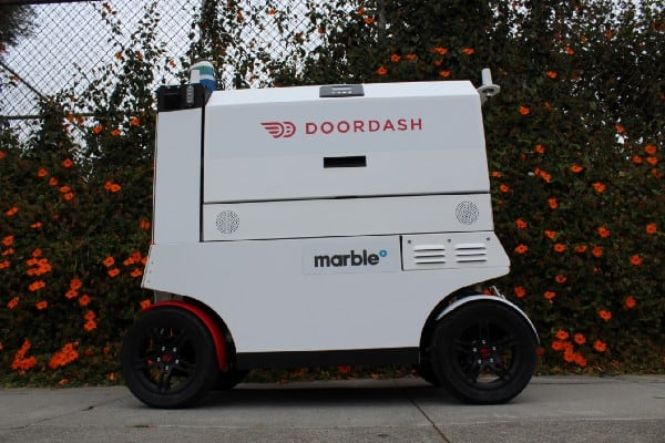 Doordash Amp Marble Start Robot Food Delivery Service In Sf