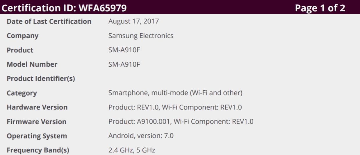 Galaxy A9 A9 Pro Tab E Nougat Testing 1