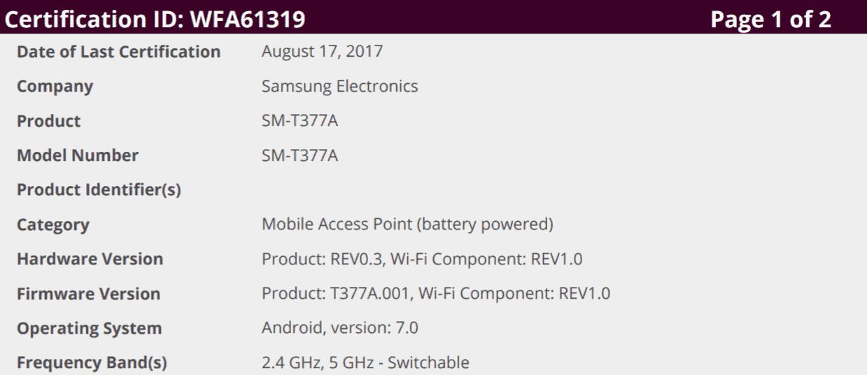 Galaxy A9 A9 Pro Tab E Nougat Testing 2