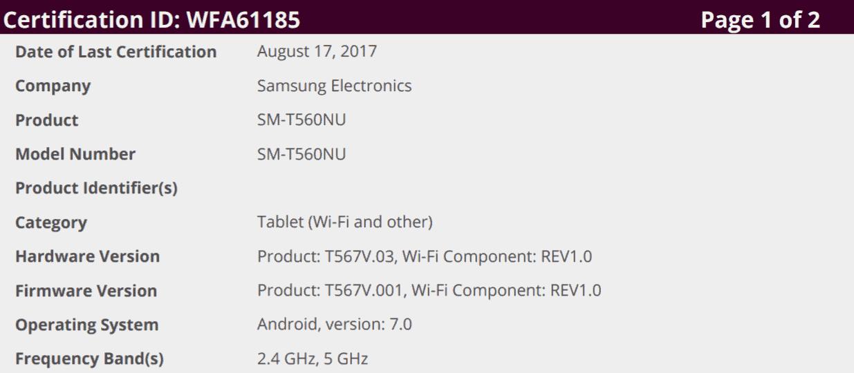 Galaxy A9 A9 Pro Tab E Nougat Testing 3