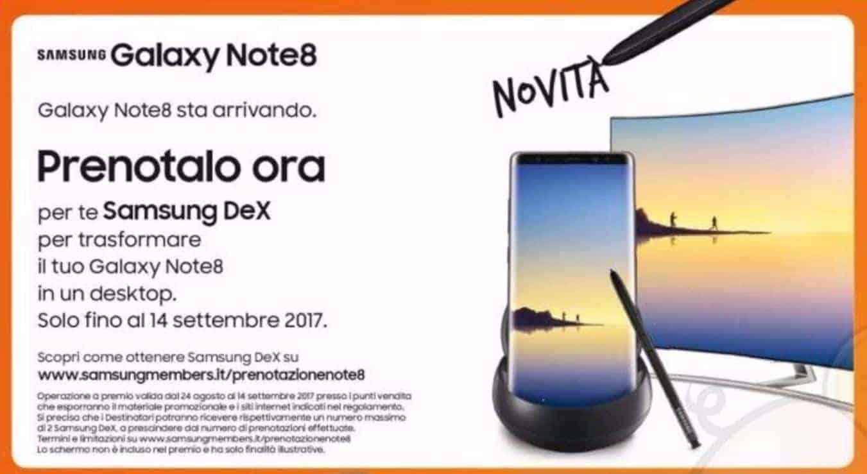 Galaxy Note 8 Italy Leaflet Leak