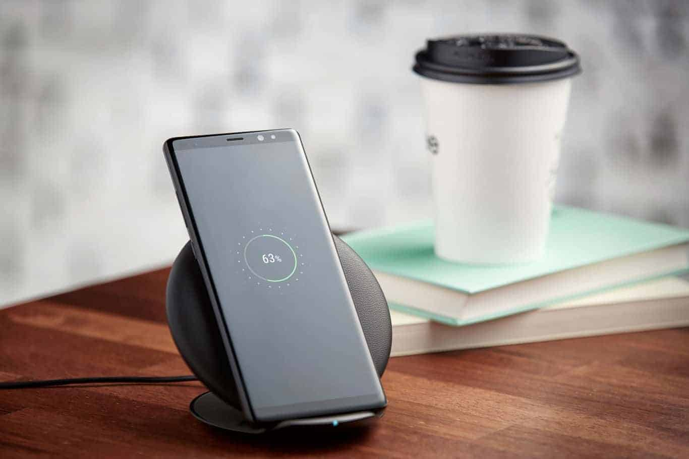 The Galaxy Note 8 Features Fast Wireless Charging