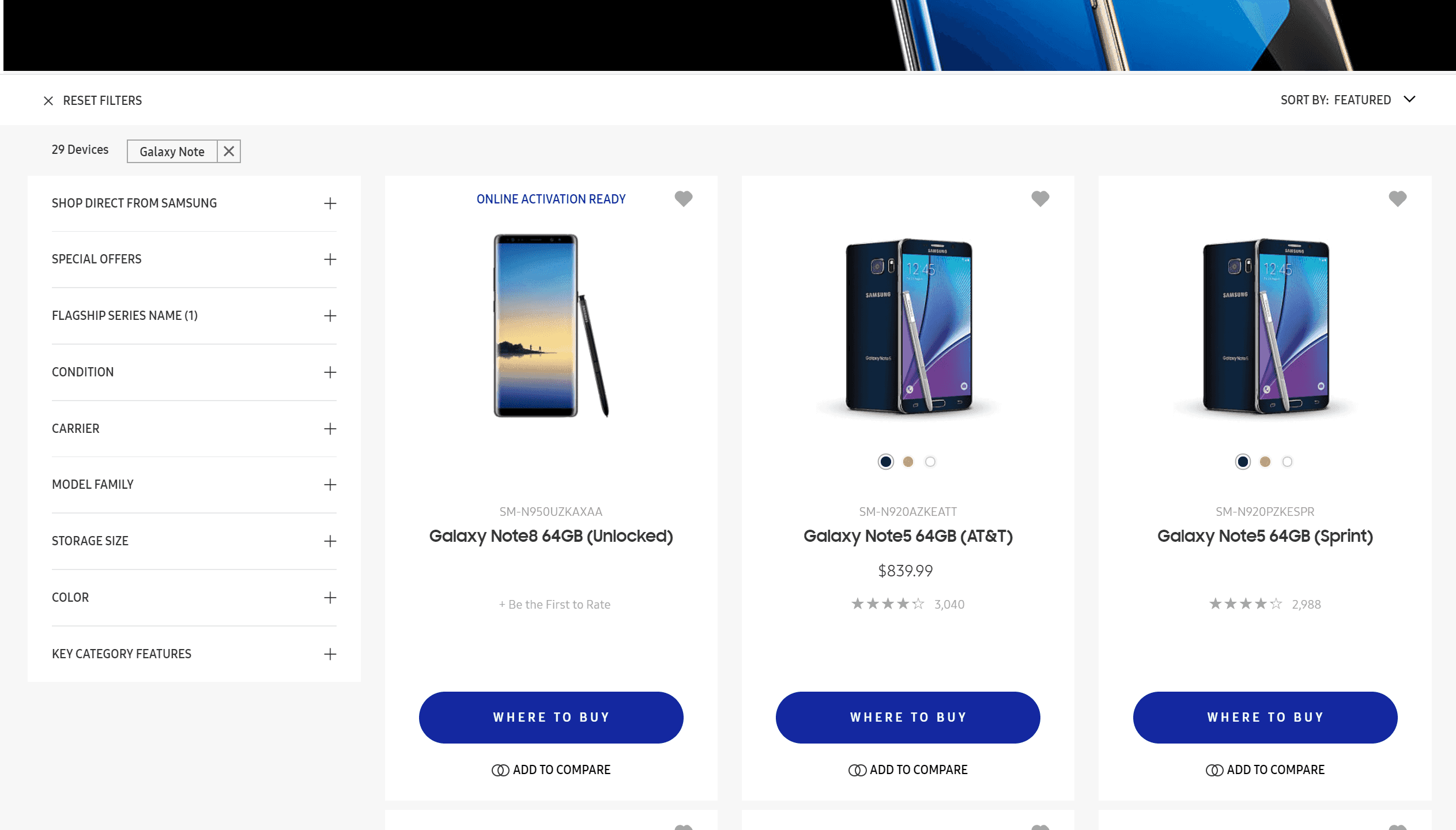 Galaxy Note 8 Samsung Web Store 2