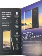 Galaxy Note 8 brochure leak 1