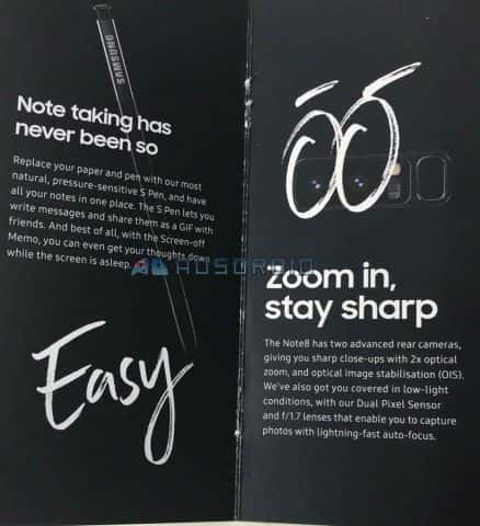Galaxy Note 8 brochure leak 3