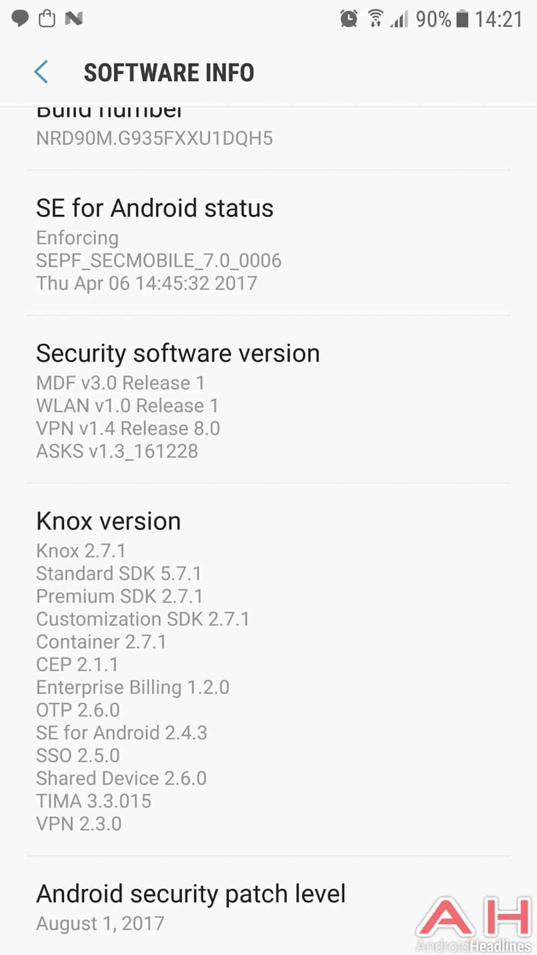 august 2017 security patch hits galaxy s7 edge in europe
