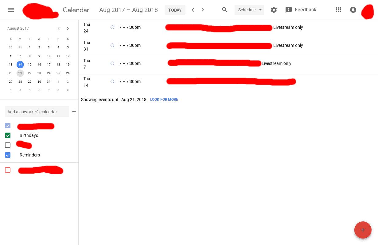 Google Calendar Web Material Design UI 4