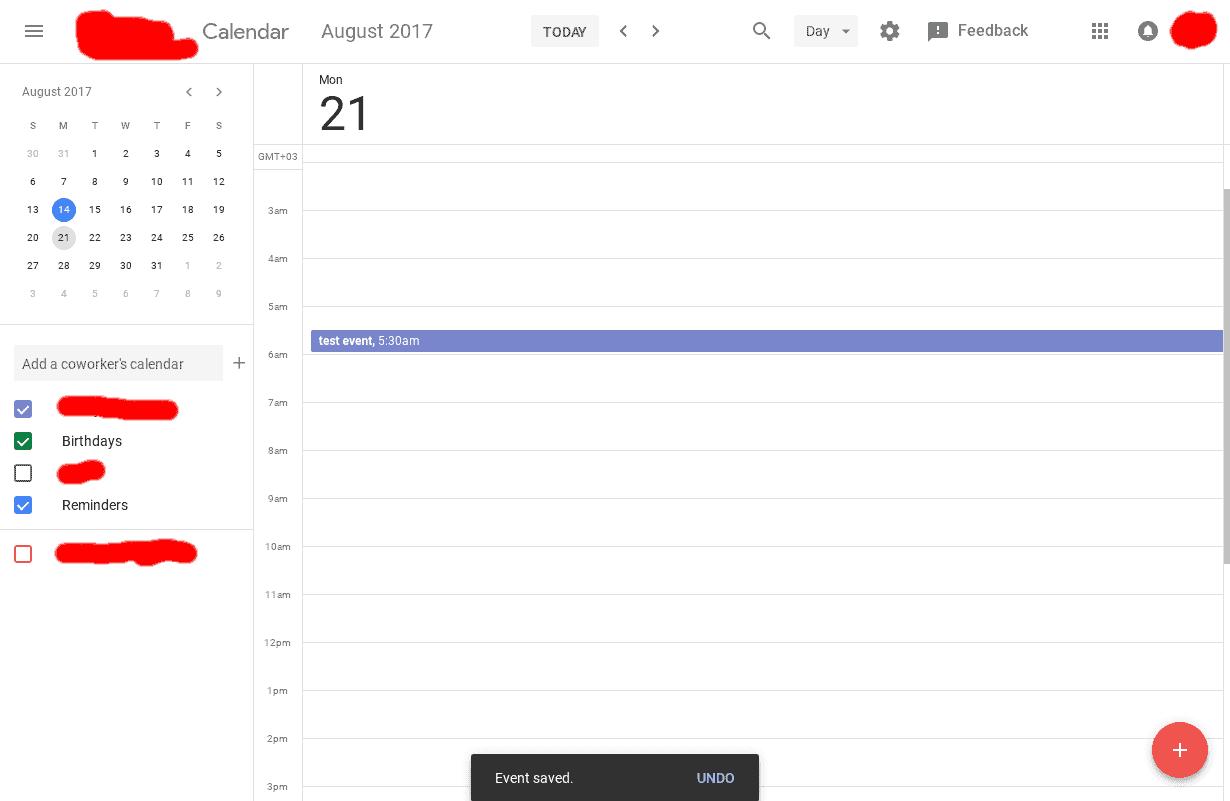 Google Calendar Web Material Design UI 5