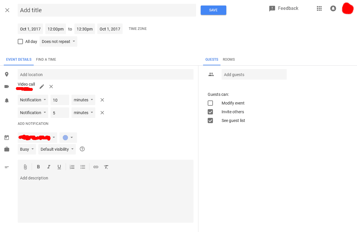 Google Calendar Web Material Design UI 6