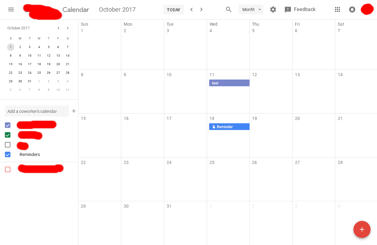 Google Calendar Web Material Design UI 7