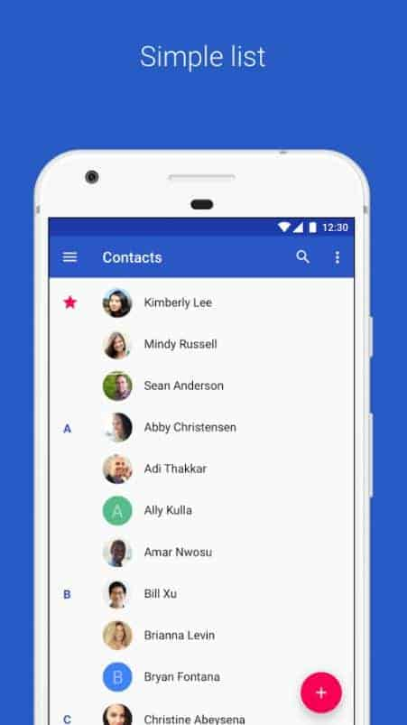 Google Contacts Google Play Store 02