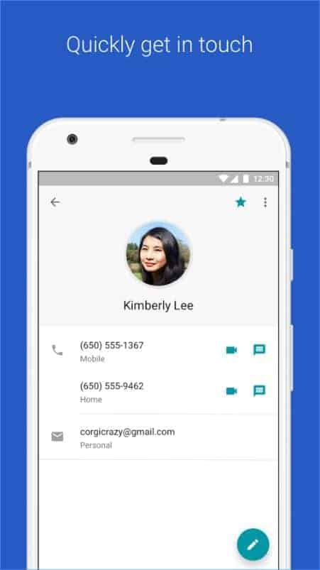 Google Contacts Google Play Store 04