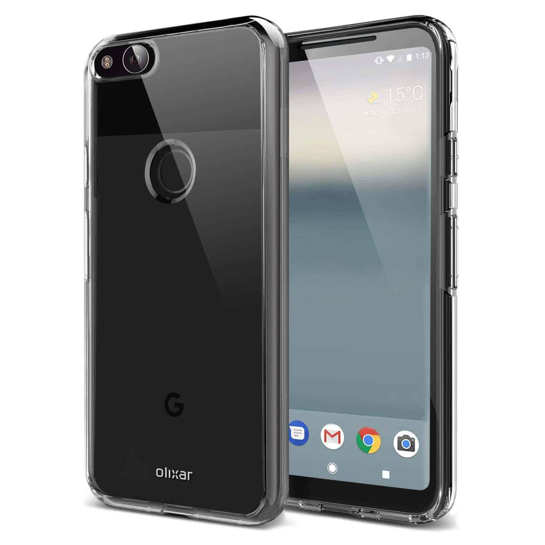 Google Pixel XL 2 Olixar FlexiShield case 1 prior to launch
