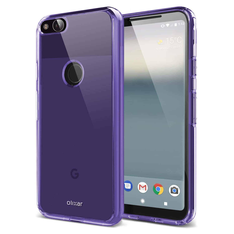 Google Pixel XL 2 Olixar FlexiShield case 2 prior to launch