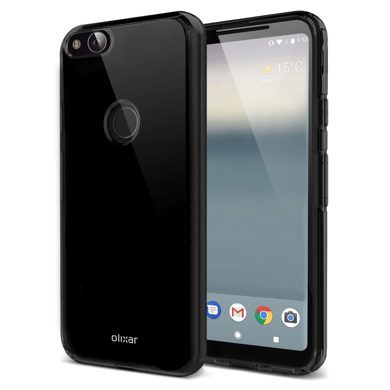 Google Pixel XL 2 Olixar FlexiShield case 3 prior to launch