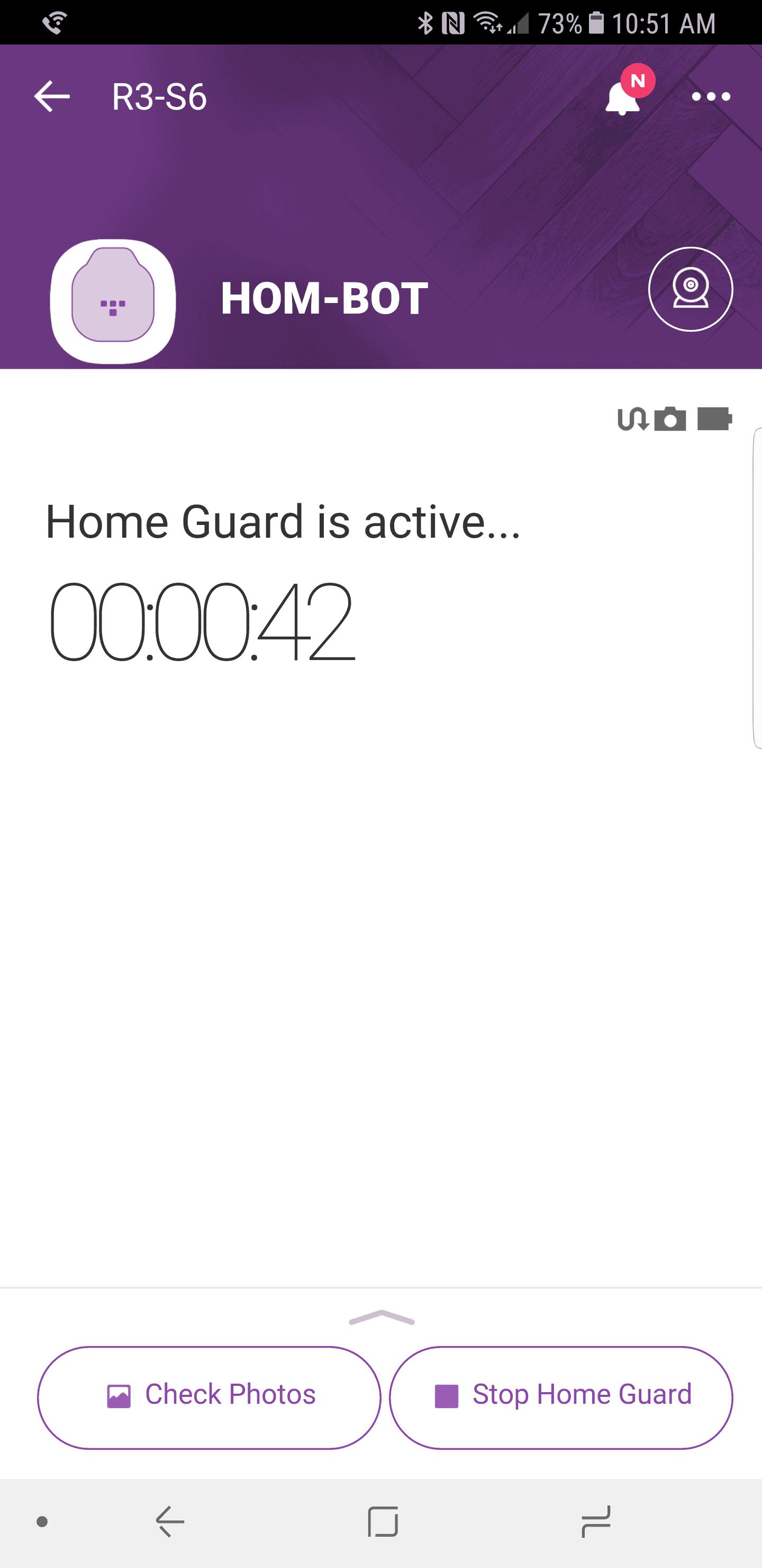 LG HomBot Turbo Plus AH NS app home guard 3