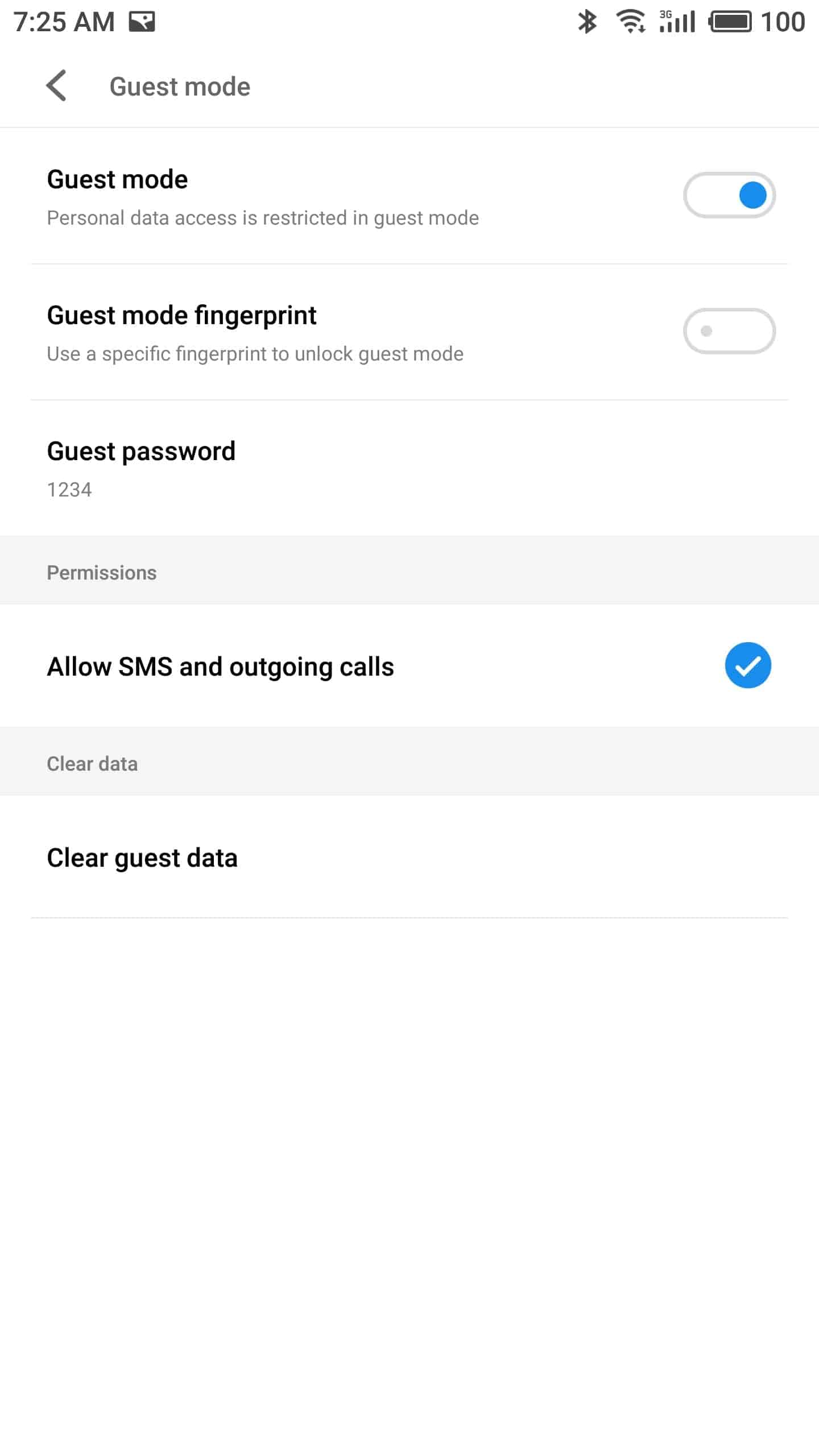 Meizu Pro 7 Plus AH NS screenshots guest mode