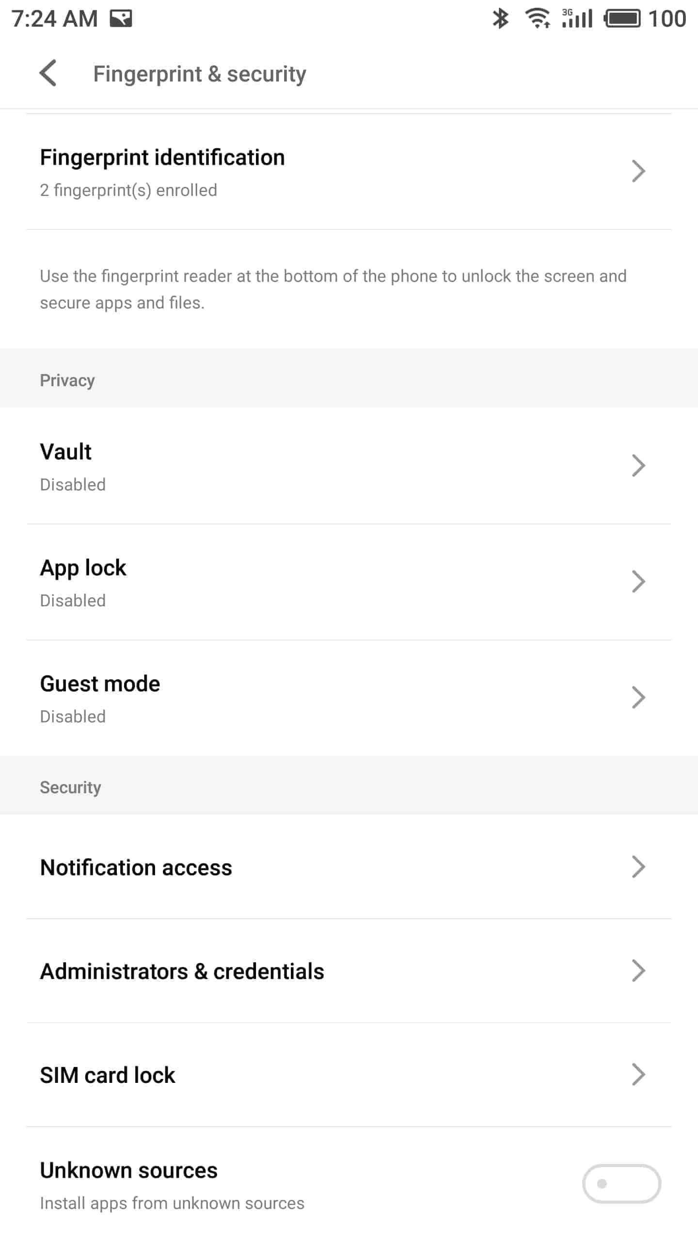 Meizu Pro 7 Plus AH NS screenshots security 8