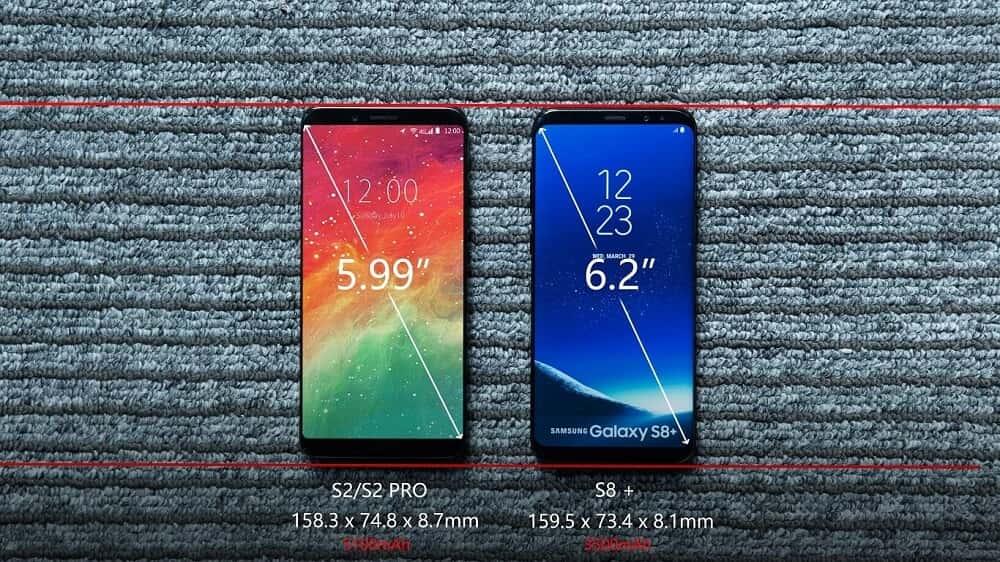 Umidigi S2 Pro Samsung Galaxy S8 Plus Display Comparison