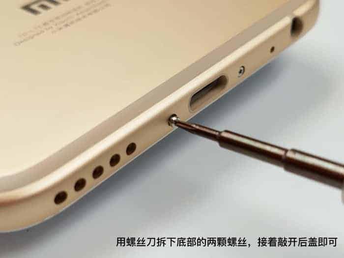 Xiaomi Mi 5X teardown 2