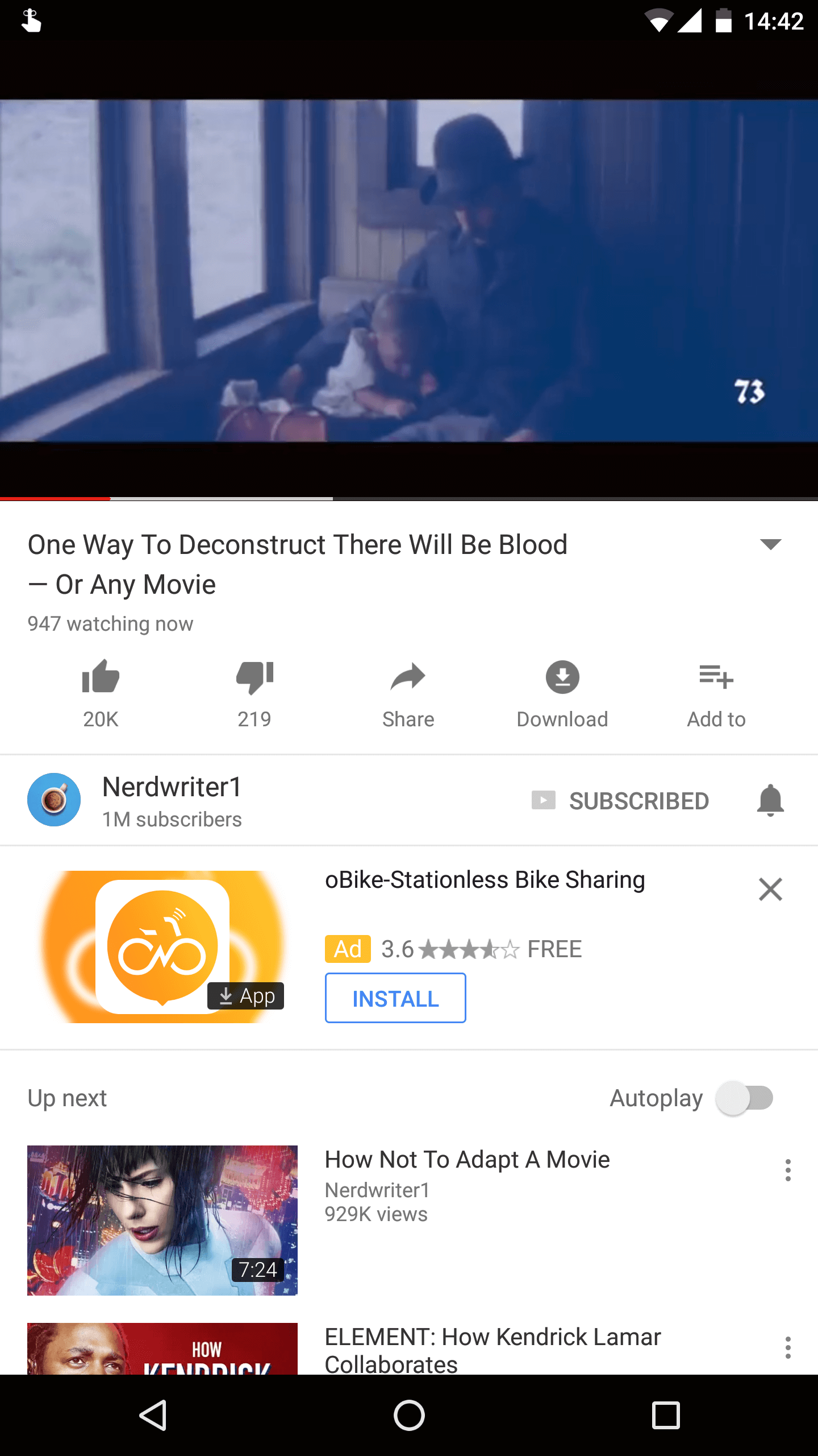 YouTube Android Live Watch Count Android Police 1