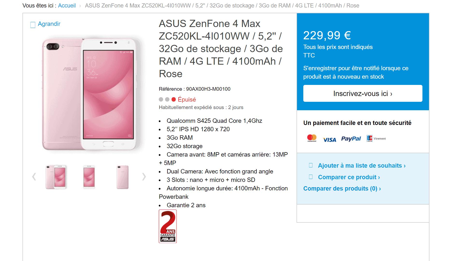 ZenFone 4 Max ASUS Leak