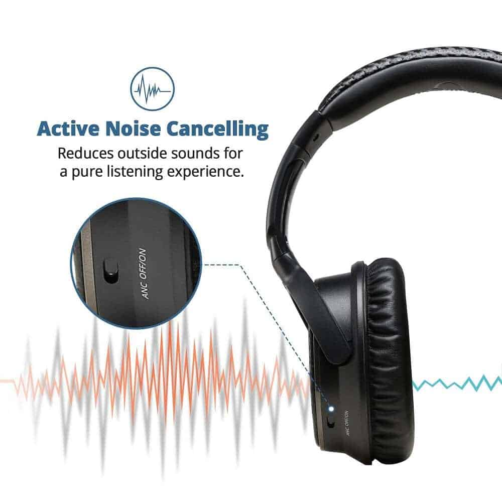 exclusive deal ideausa active noise cancelling bluetooth. Black Bedroom Furniture Sets. Home Design Ideas