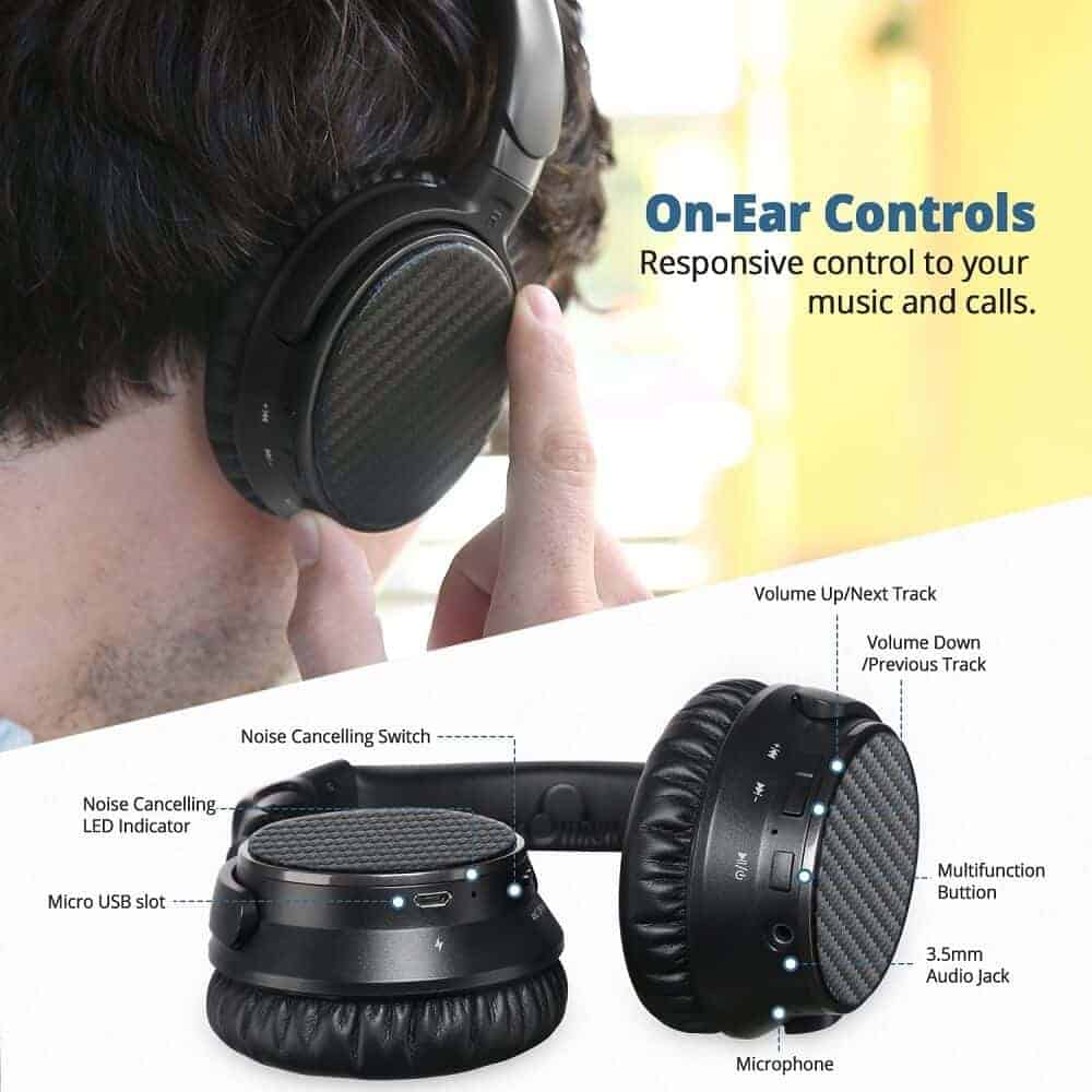 exclusive deal ideausa active noise cancelling bluetooth headphones. Black Bedroom Furniture Sets. Home Design Ideas