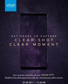 Selfie-Focused Vivo V7 Plus To Launch In India On Sept. 7