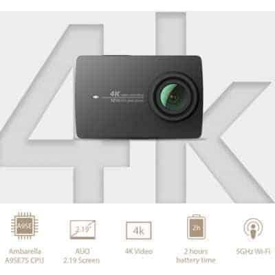 yi 39 s 4k action camera selfie stick remote bundle now on sale. Black Bedroom Furniture Sets. Home Design Ideas