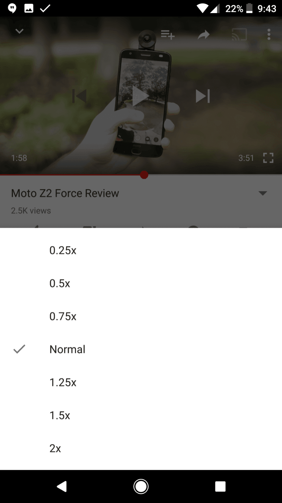 youtube speed control 2