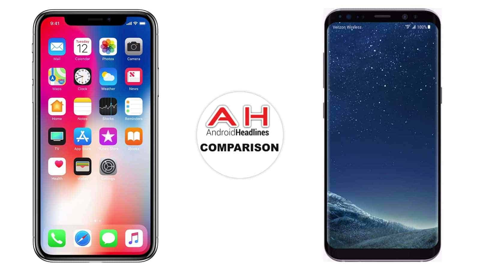 Phone Comparison Apple Iphone X Vs Samsung Galaxy S8