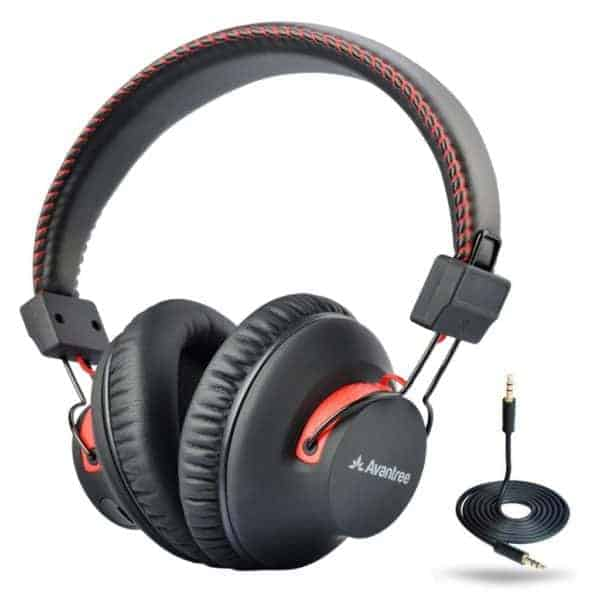 Avantree 40 hr Wireless / Wired Bluetooth 4.0 Over-the-Ear Headphones