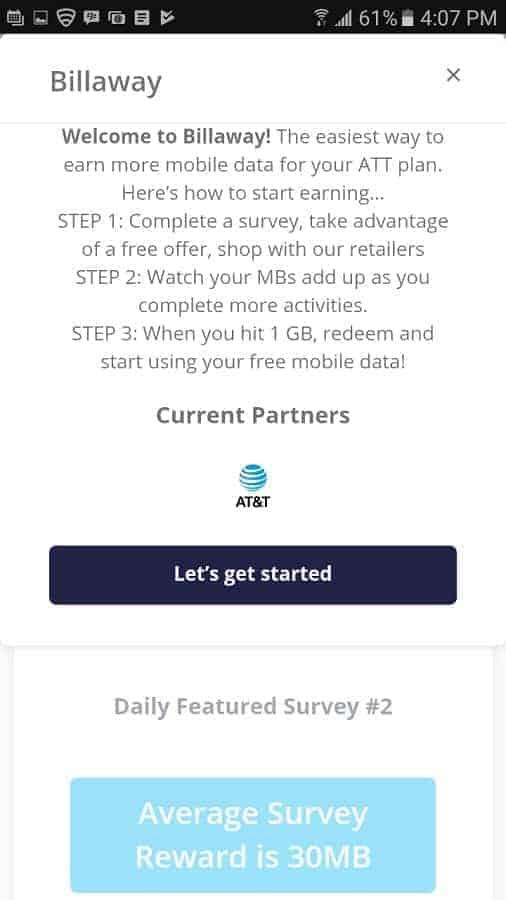 Billaway ATT Mobile Data App 2