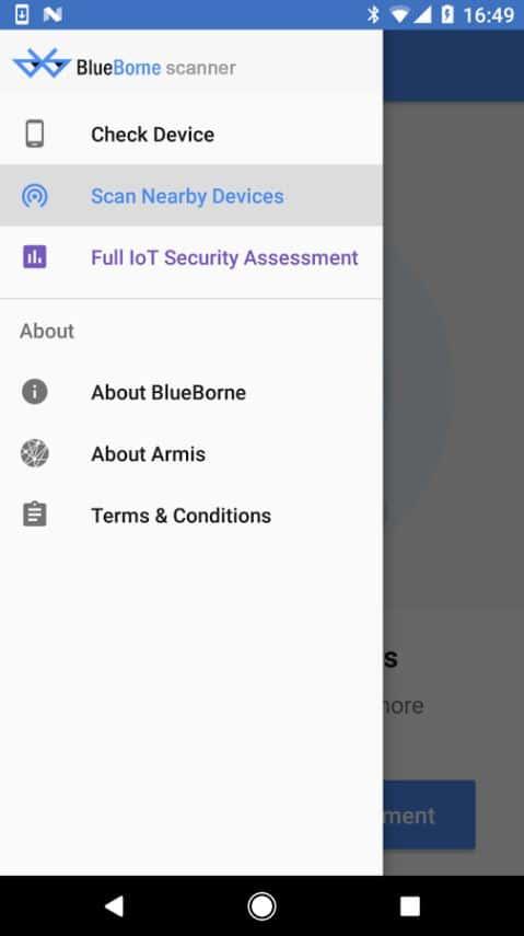 BlueBorne Vulnerability Scanner by Armis 05