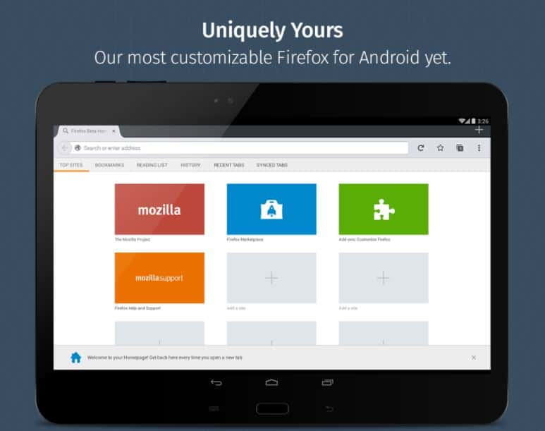 Firefox for Android Beta Play Store scrnshot 09