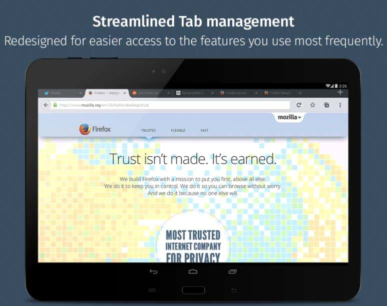 Firefox for Android Beta Play Store scrnshot 10