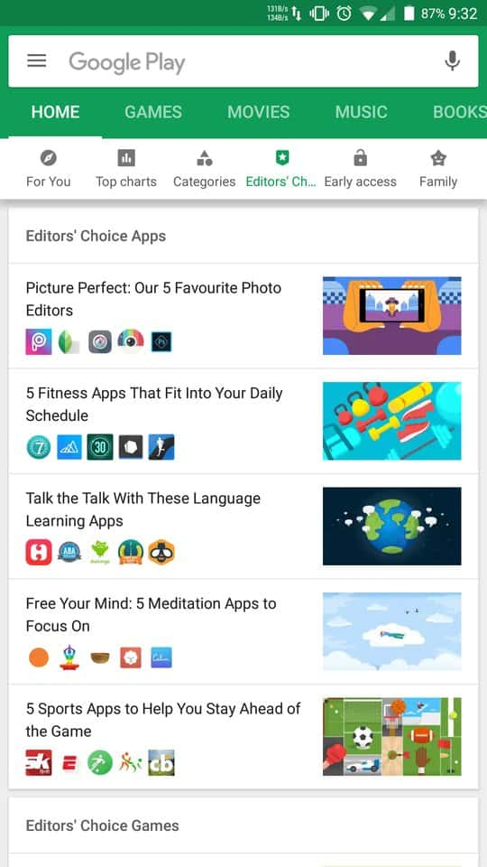 Google Is Testing Various Changes in The Interface of Google Play