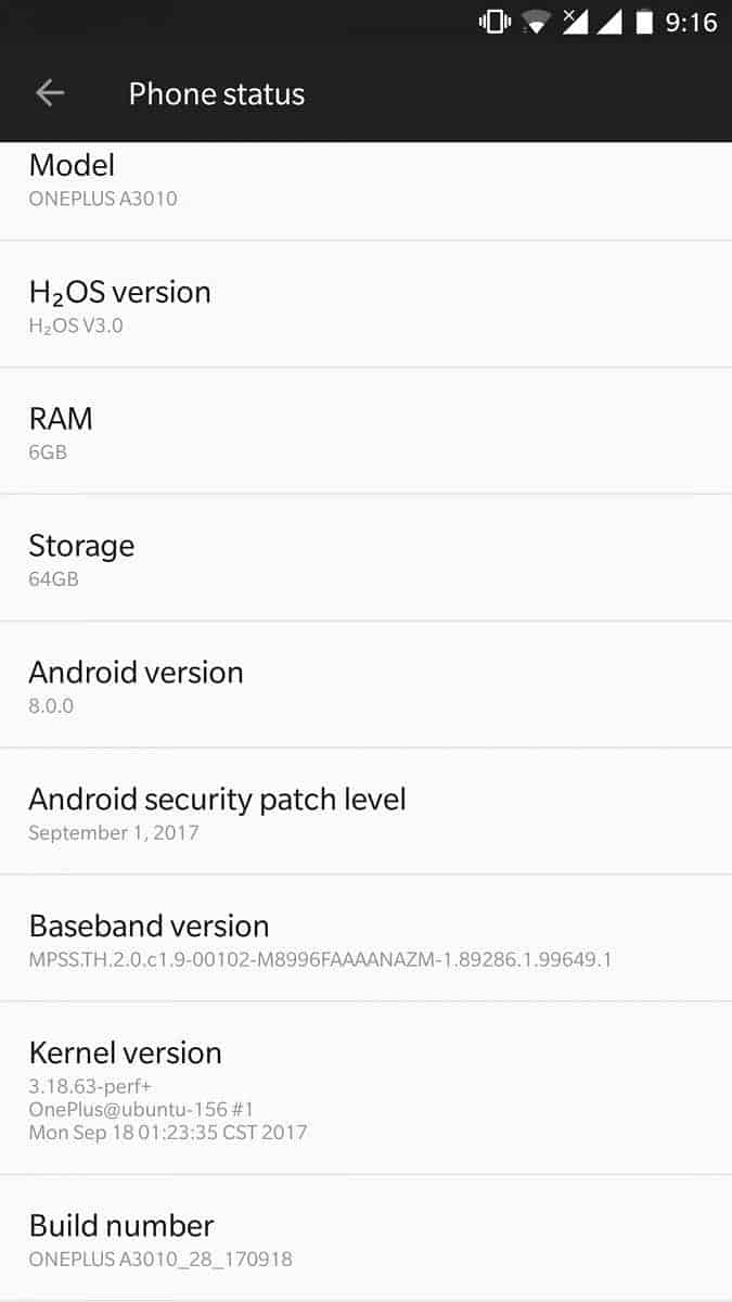 HydrogenOS based on Android 8.0 Oreo 6