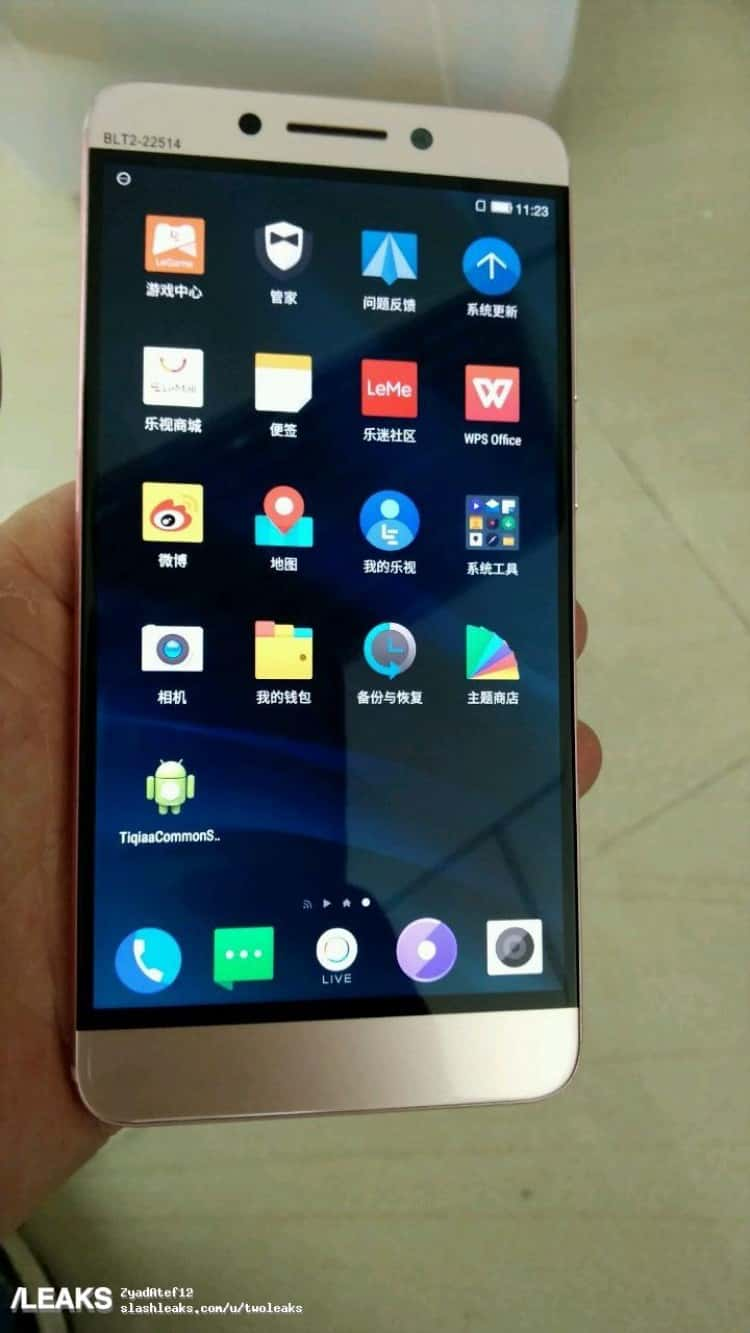 Prototype Of LeEco Le X7 Leaks In Real Life Images
