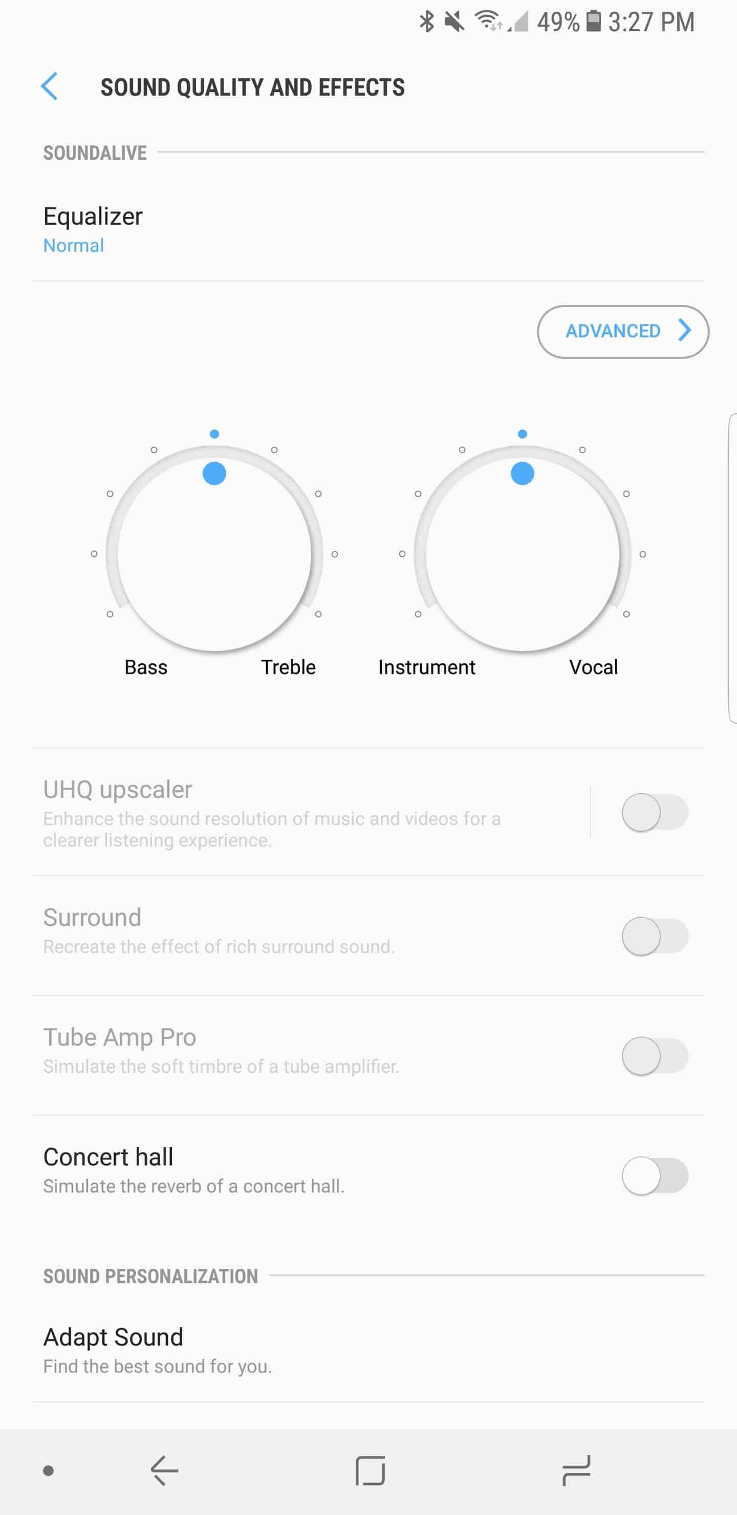 Samsung Galaxy Note 8 AH NS Screenshots audio