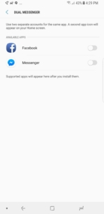 Samsung Galaxy Note 8 AH NS Screenshots dual messenger