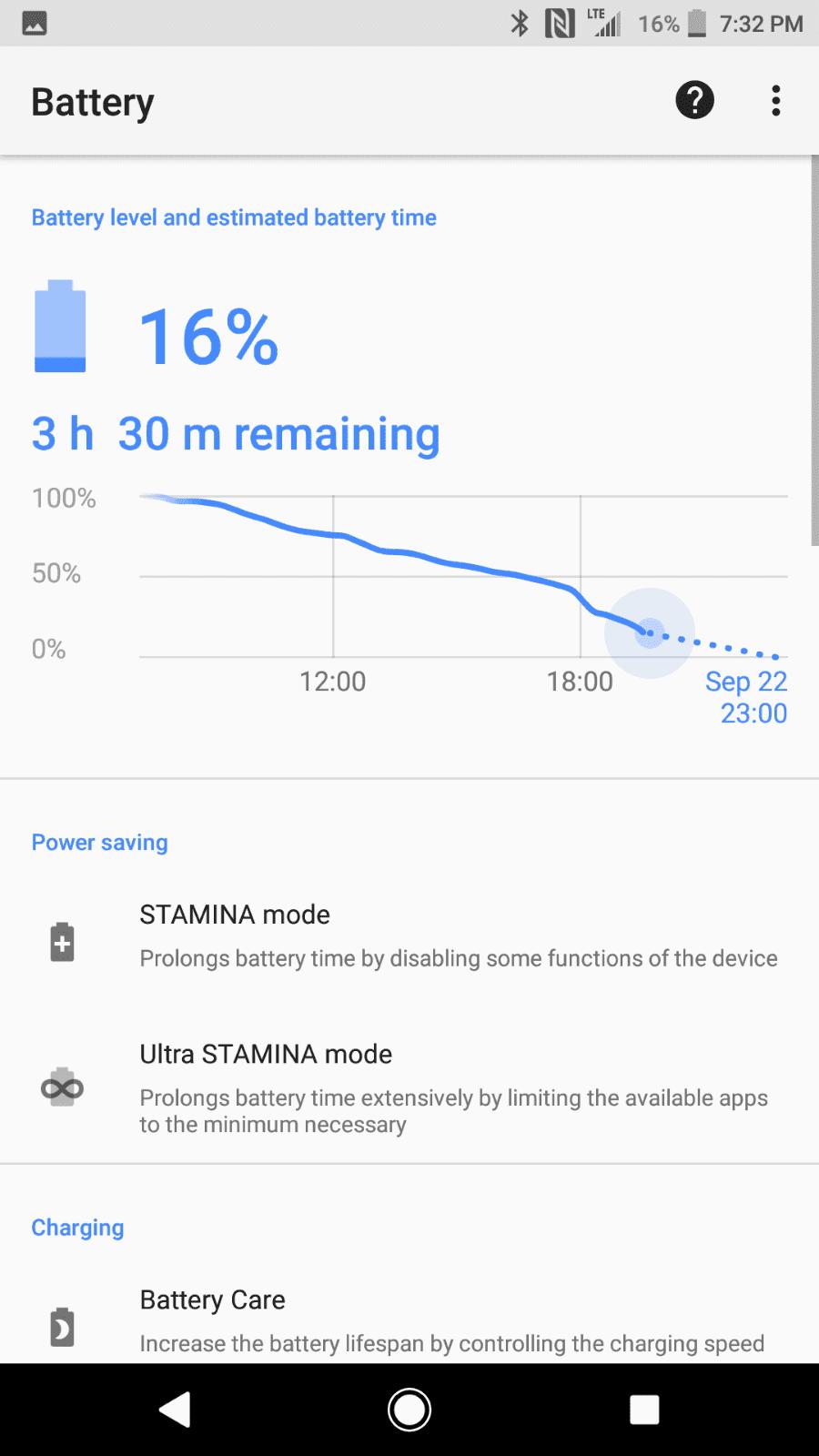 Sony Xperia XZ1 AH NS Screenshots battery 2